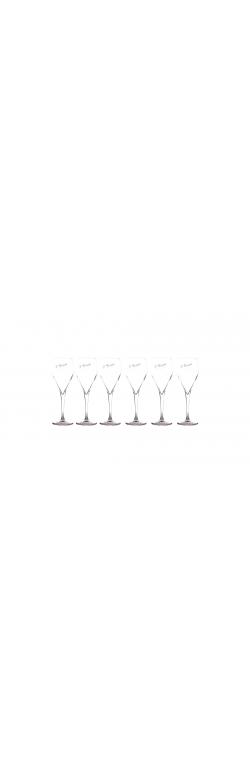 6 flûtes à Champagne gravées à notre signature