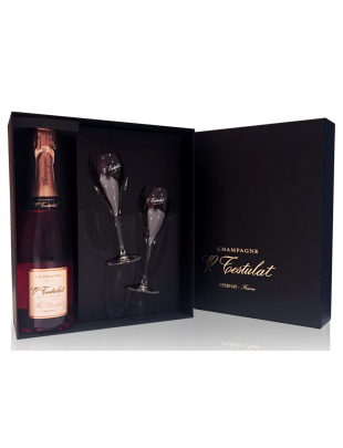Box for one bottle with 2 glasses V.Testulat